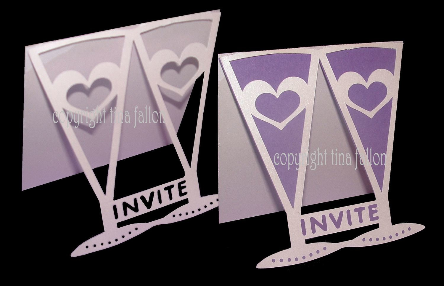 Wedding Glasses  Invitation