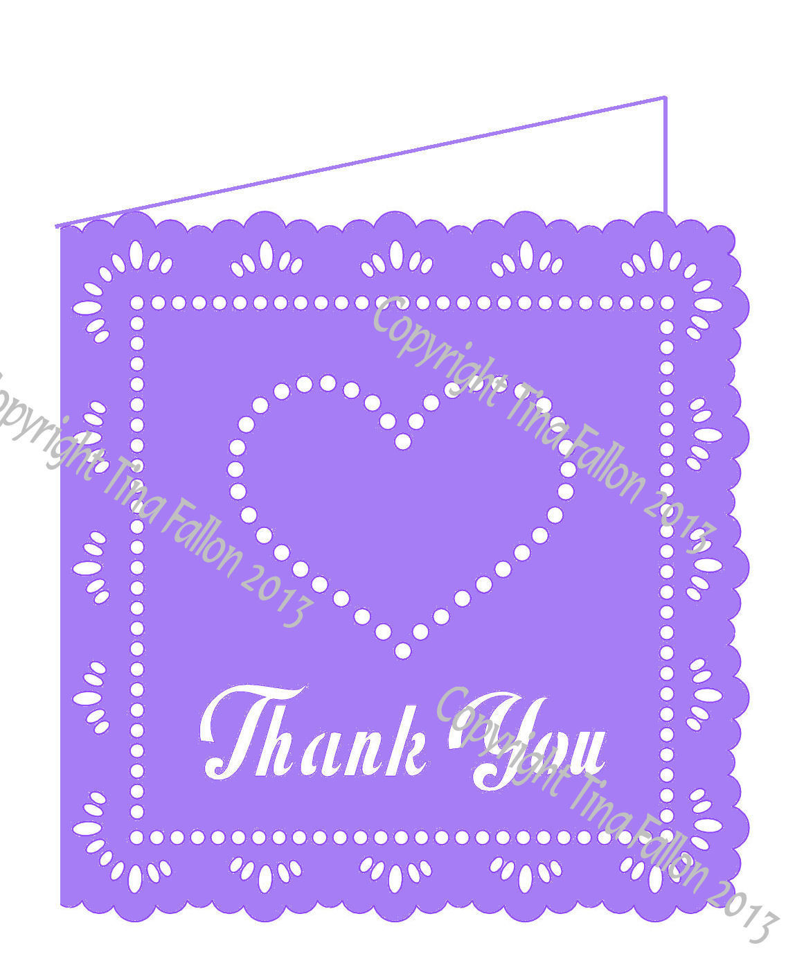 Wedding Hearts Thank You
