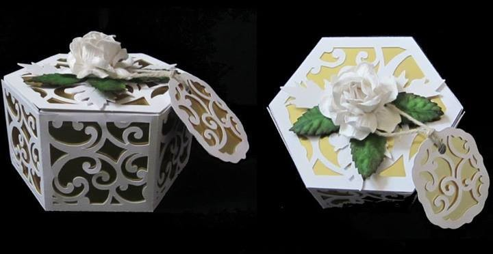 Filigree Design Hexagon Box