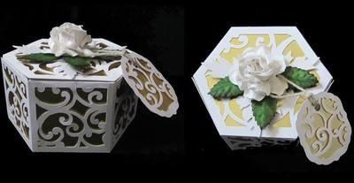 Filigree Design Hexagon Box