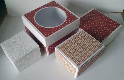 3 Boxes 78mm x78mm x 50mm / 112mm x 112mm x 75mm and 80mm x 100mm x 50mm