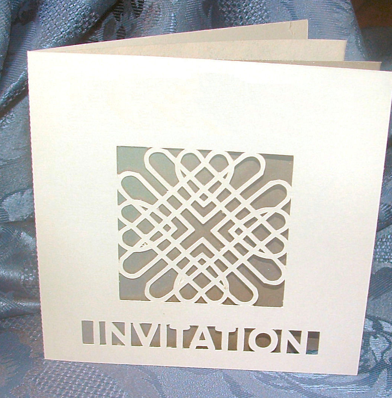 Entwined Hearts Card Invitation No 1
