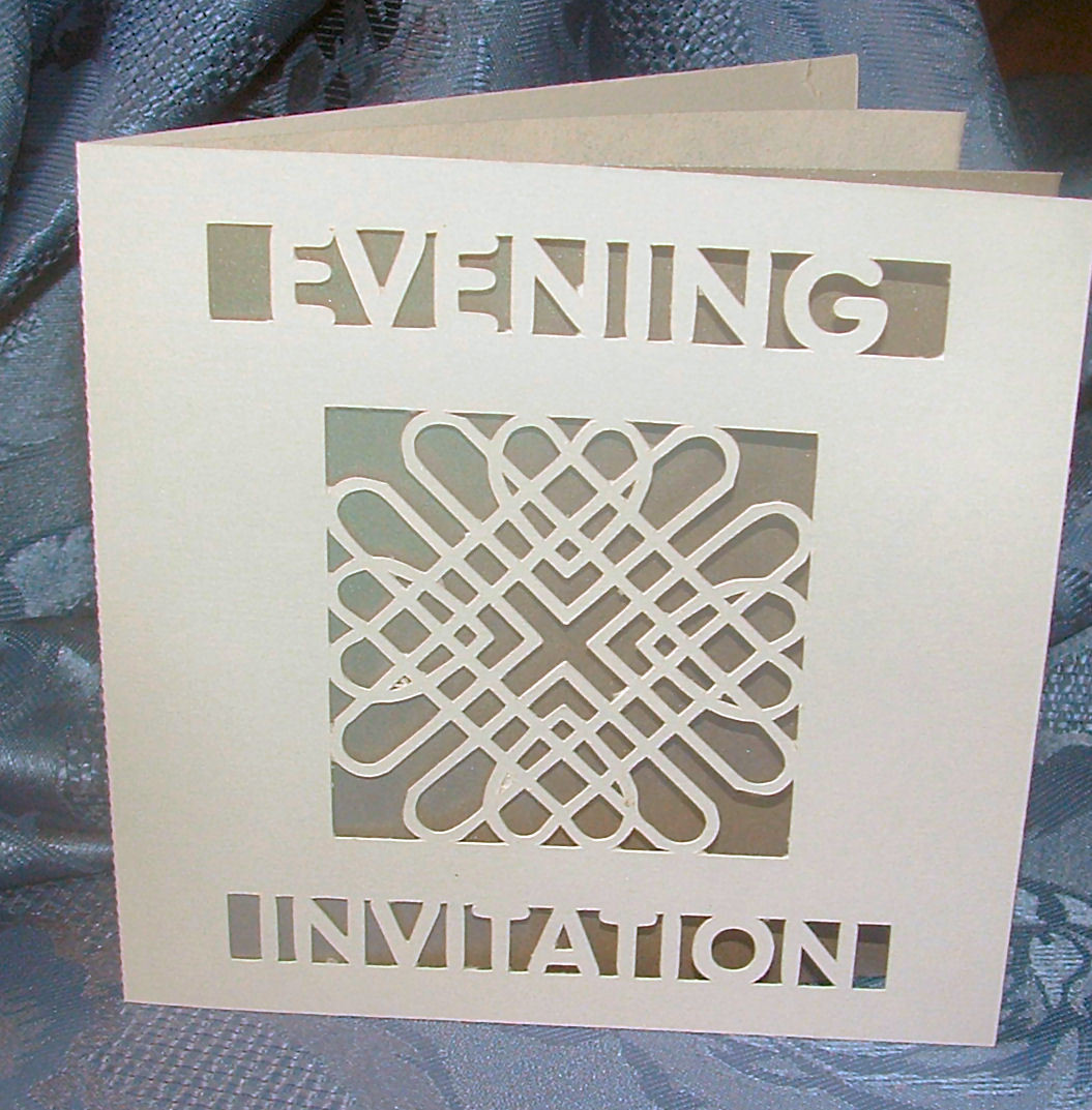 Entwined Hearts Card Invitation No 3 Evening
