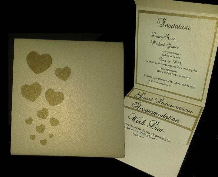 Wedding Invitation Heart Pocket Wallet