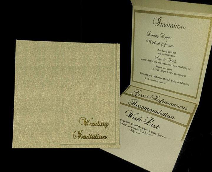 Wedding Invitation Plain Pocket Wallet