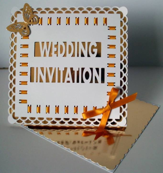 Wedding Invitation Easel Card with box