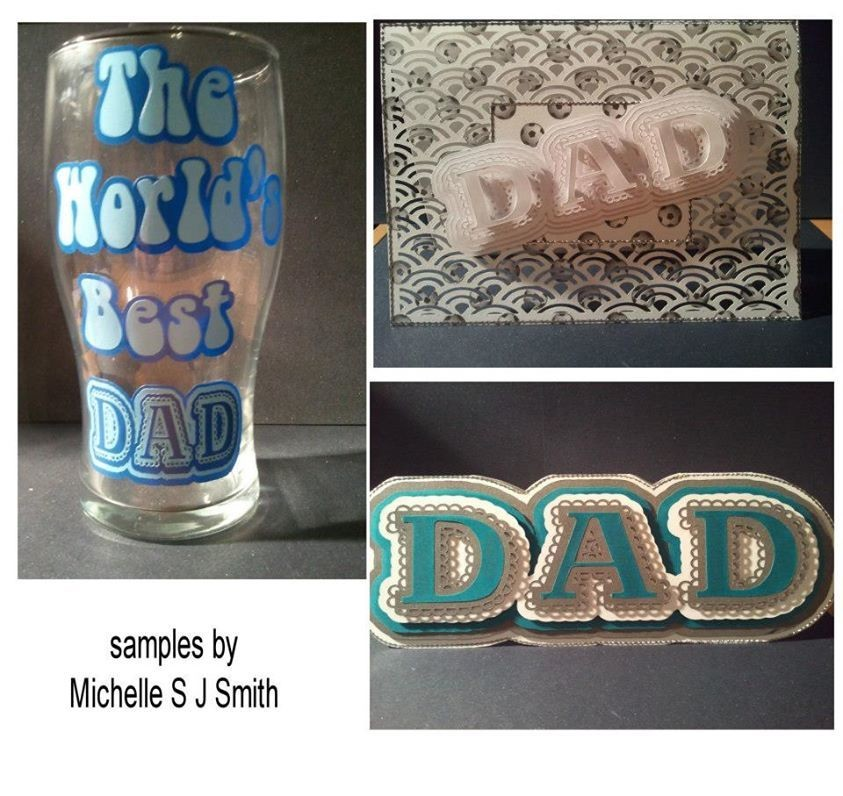 Dad scalloped layer topper Set.