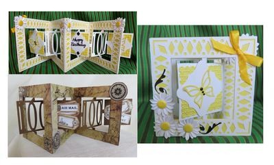 Accordian Card - 100 th  birthday - Anniversary