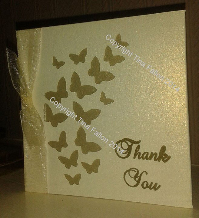 Butterfly Thank You Card (Square) , this compliments the Butterfly Pocket Invitation