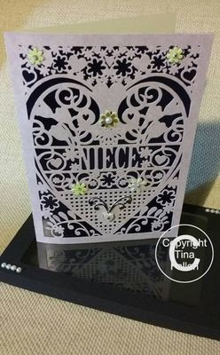 Niece Birthday Card (with box)  beautiful cutout design