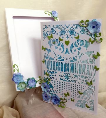 Daughter In Law  Birthday Card (with box)  beautiful cutout design