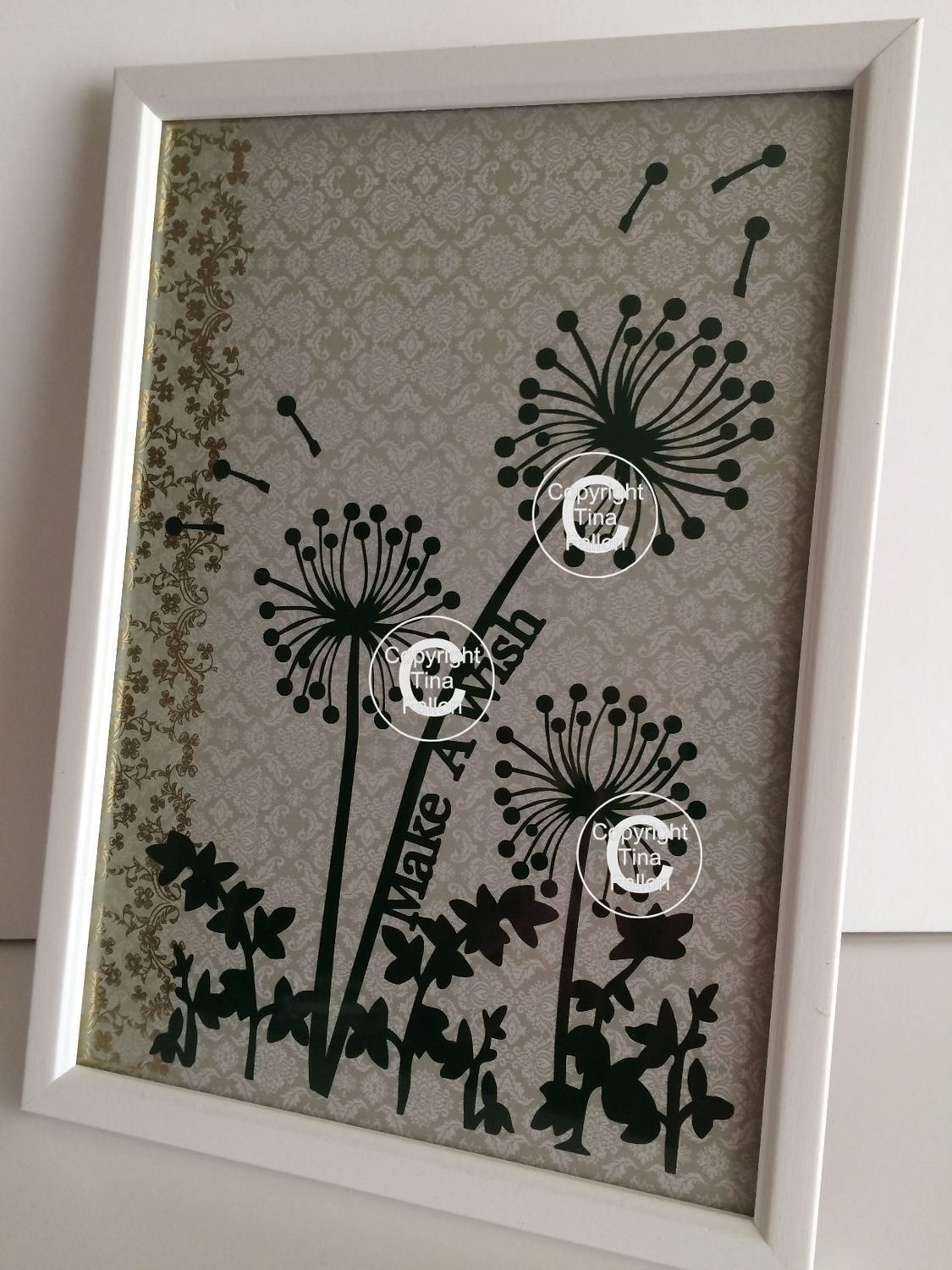 Dandelion Wishes  Word Art 4 SVG/SCAL4 - Cricut compatible.