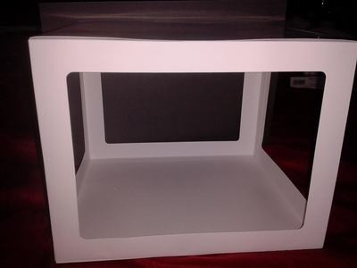 LARGE Box.  Pre-set size is approx 7H x 8W x 9D  inches,  SVG