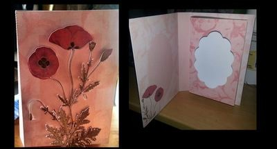Poppy Combi Card/Box with additional print n cut 3 decopage