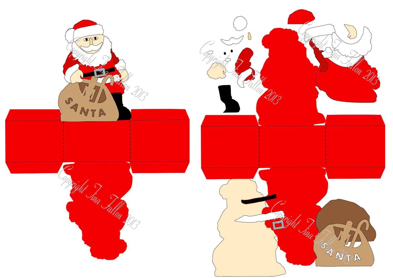 Christmas Treat Box Santa Print N Cut