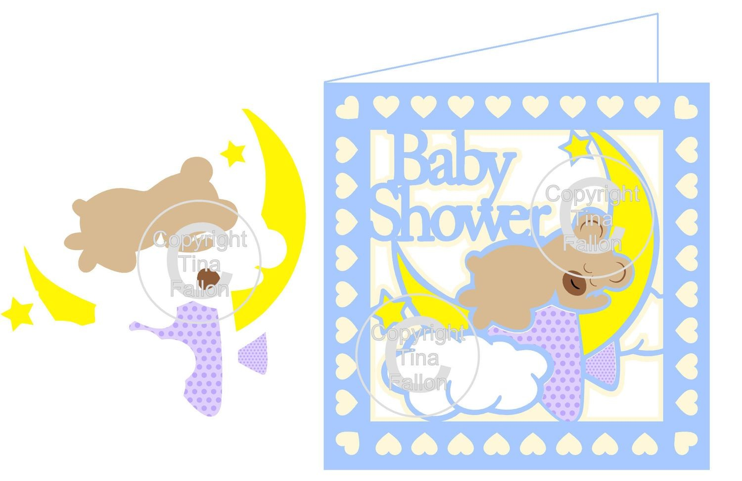 Baby Shower Bear Card   PLEASE READ INFO