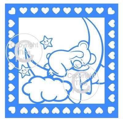 Framed Baby Bear on Moon PLEASE READ ALL INFO