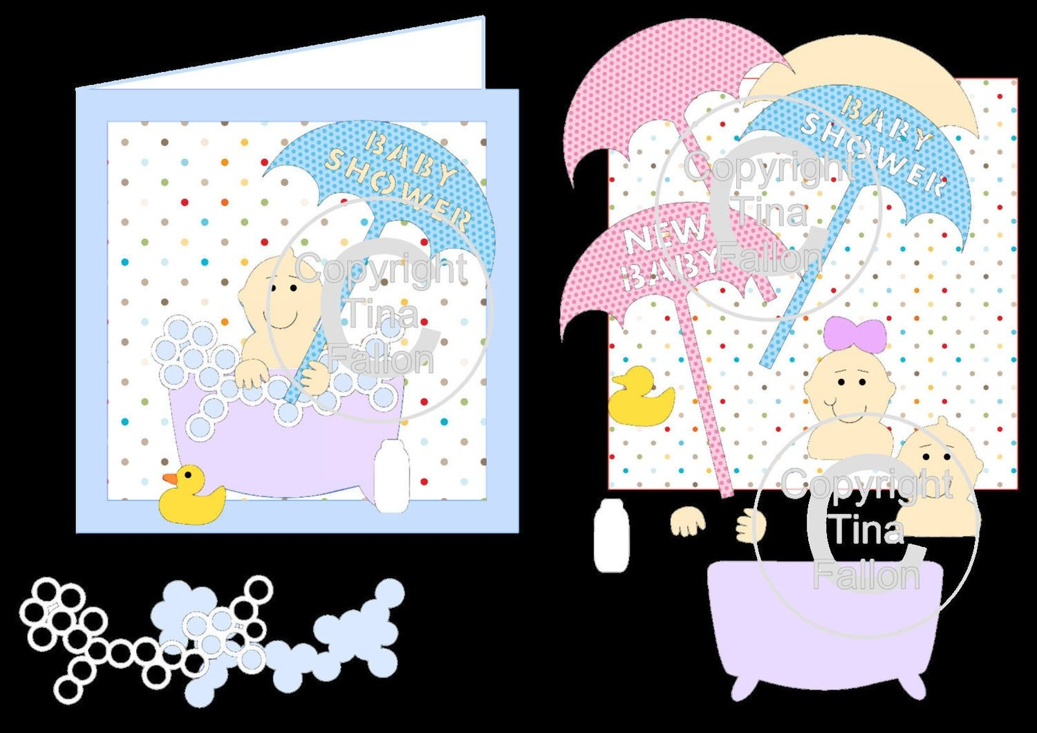 Baby Shower/Birth and Birthday mix n match card