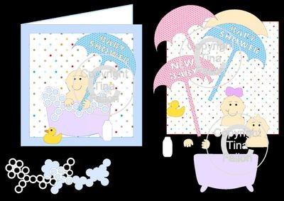 Baby Shower/Birth and Birthday mix n match card