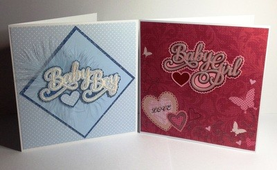 Baby Boy and Baby Girl   Layered Toppers