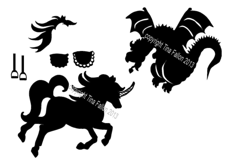 Carousel Star Card Add On's Unicorn and Dragon