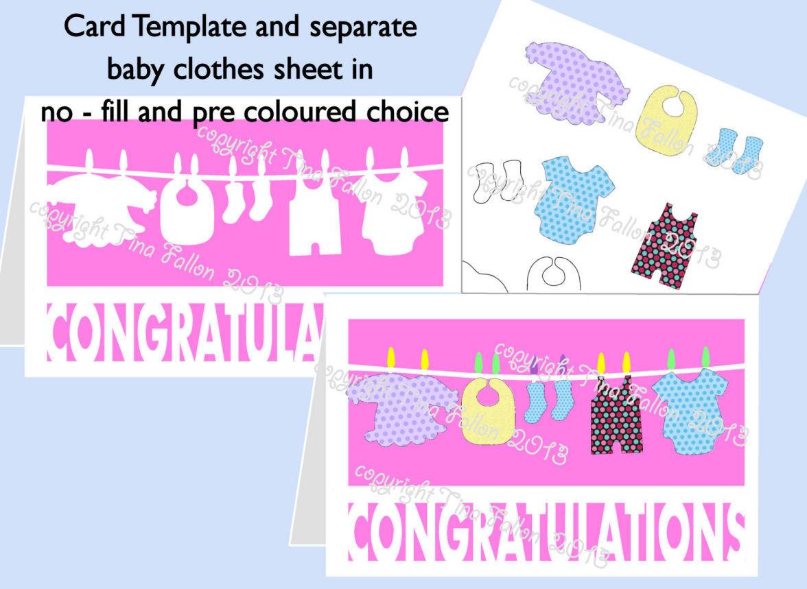 Baby Congratulations Wash Line