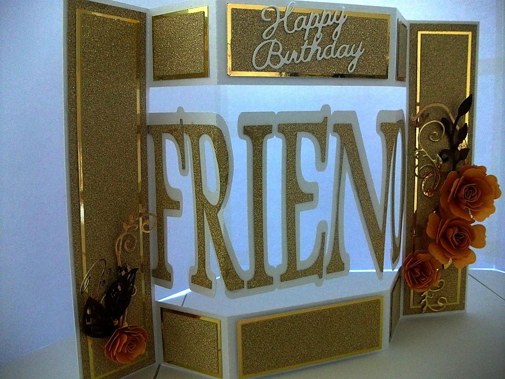 Shutter card tri fold  with Friend theme