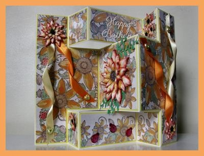 Tri Shutter Fold Card with layering