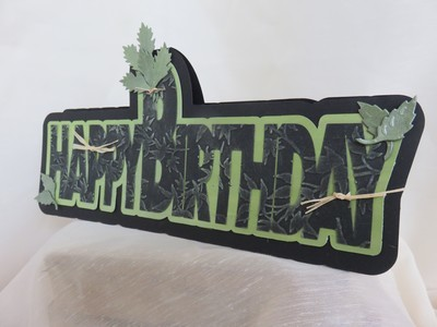 Happy Birthday - Layered Word Shaped Card