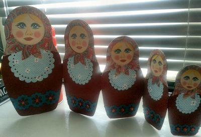 Matryoshka Russian doll folding card cutting file