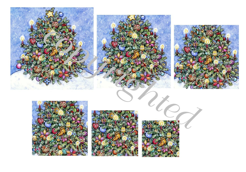 Oh Christmas Tree  A4 Pyramid sheet print n cut