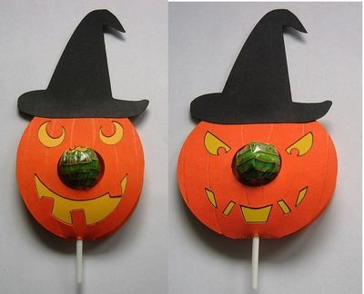 SET of 2  Halloween Pumpkin Chupa Chups Lolly holder FCM Scan n Cut