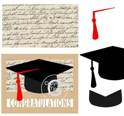 GRADUATION CARD TEMPLATE LAYERED *STUDIO*