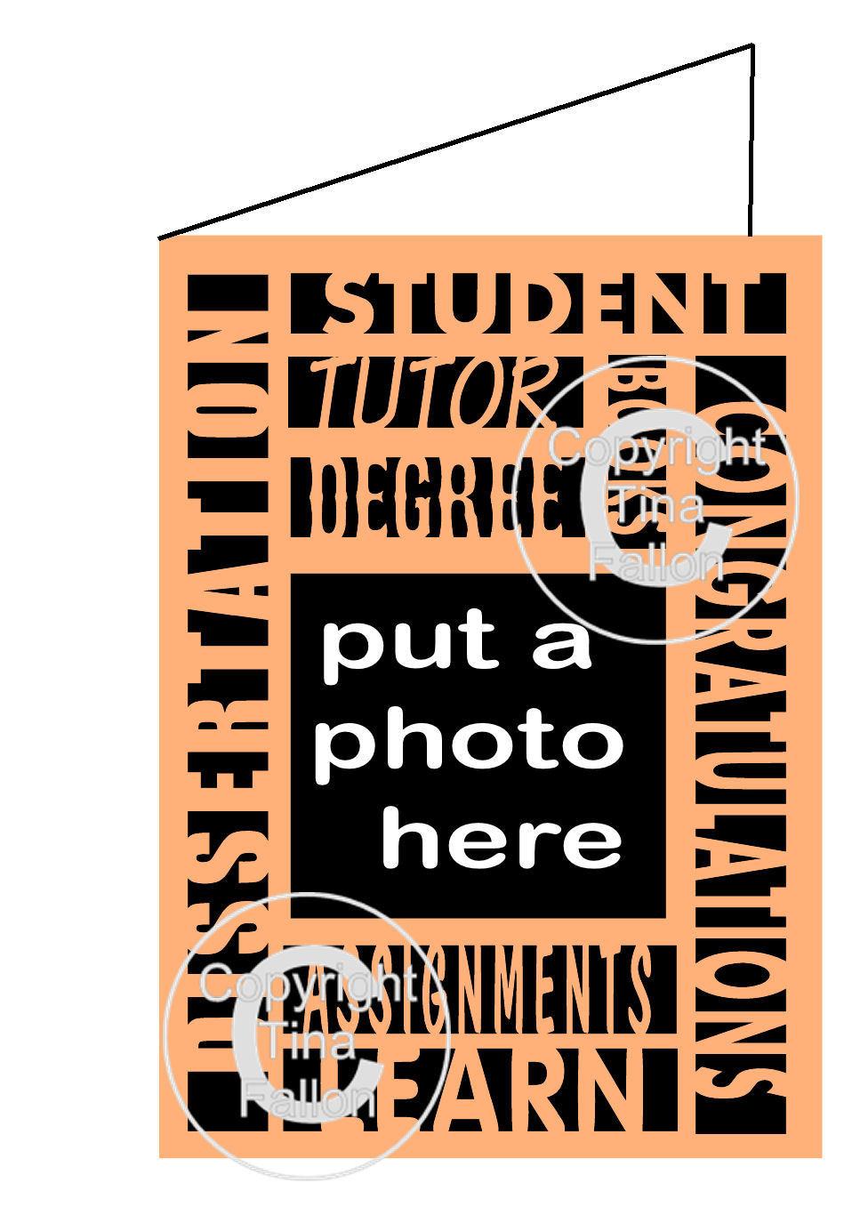 Graduation Card with aperture for a photo
