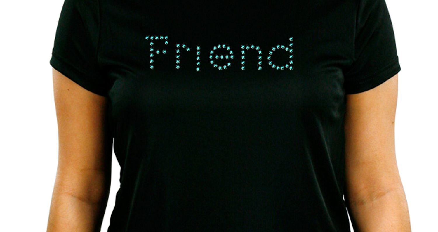 Rhinestone template - 6mm holes  Friend