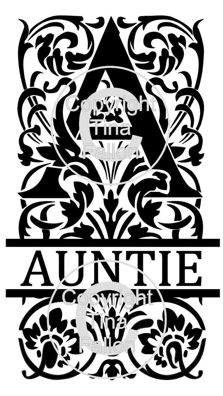 Split Letters - Auntie