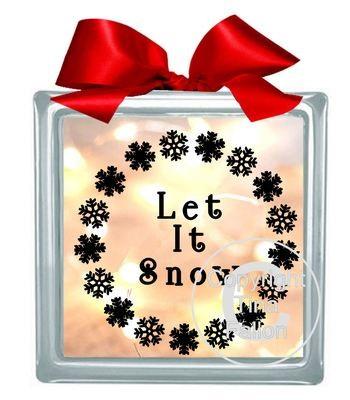 Let It Snow Vinyl design for Christmas