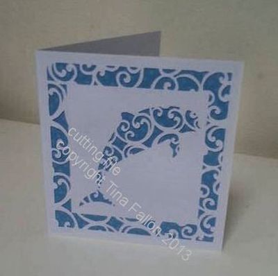 Dolphin Filigree Card Template