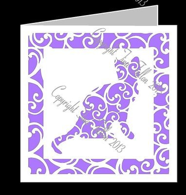 Cat Filigree Card Template