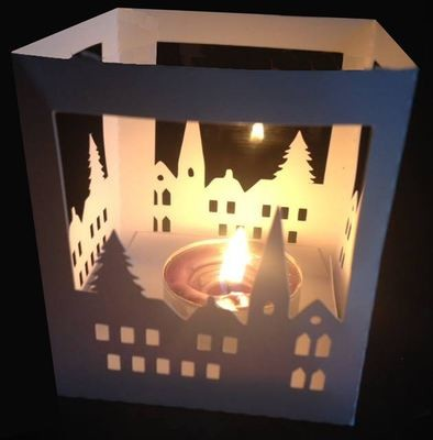 Winter Scene Luminaire or gift box