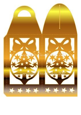 Christmas Bauble Luminaire or gift box
