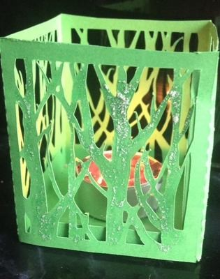 Winter Trees Luminaire or gift box