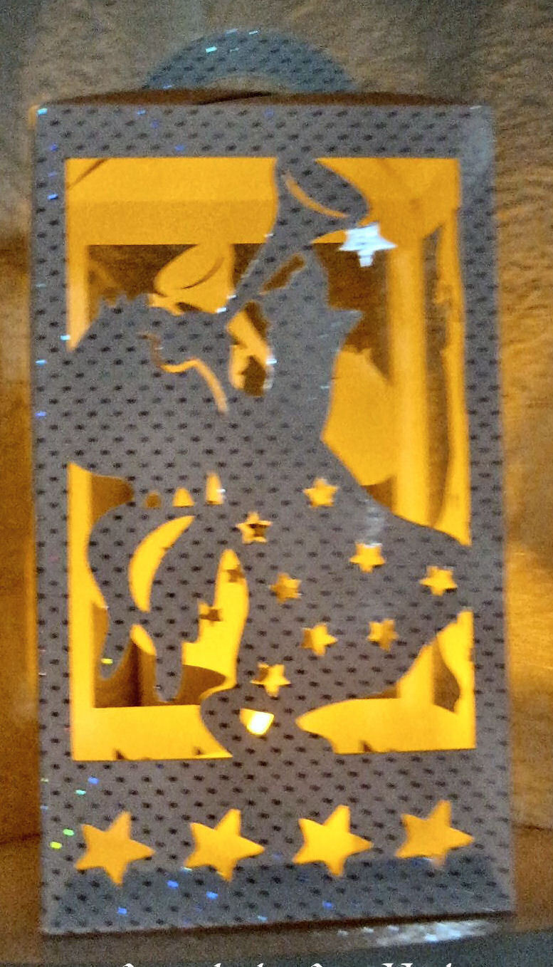 Christmas Angel Luminaire or gift box