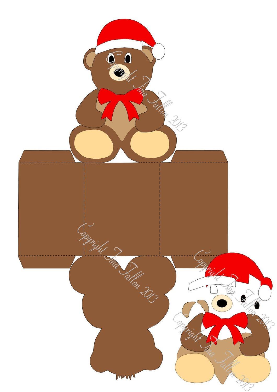 Christmas Treat Box Bear Print N Cut