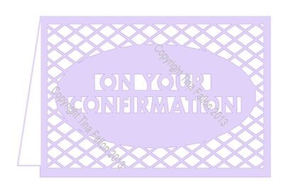 Confirmation No6 Card Template with lattice cut out