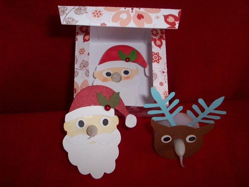 Reindeer and Santa LED Tealight decorations