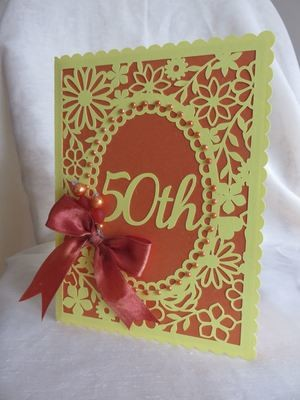 50th Birthday floral card - studio