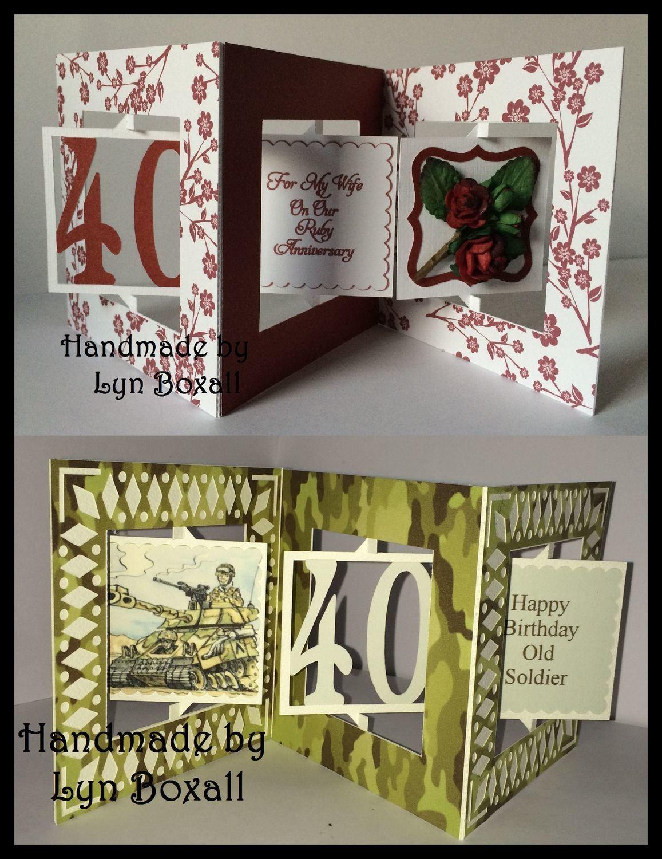 Accordian Card - 40 th  birthday - Anniversary.