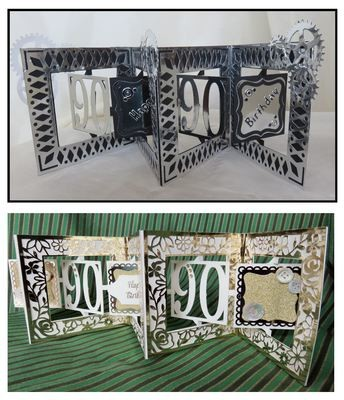 Accordian Card - 90 th  birthday - Anniversary