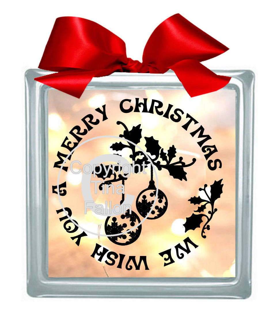 Baubles Vinyl design for Christmas